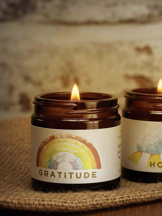Ruth Mastenbroek brings us Hope and Gratitude – in candle form