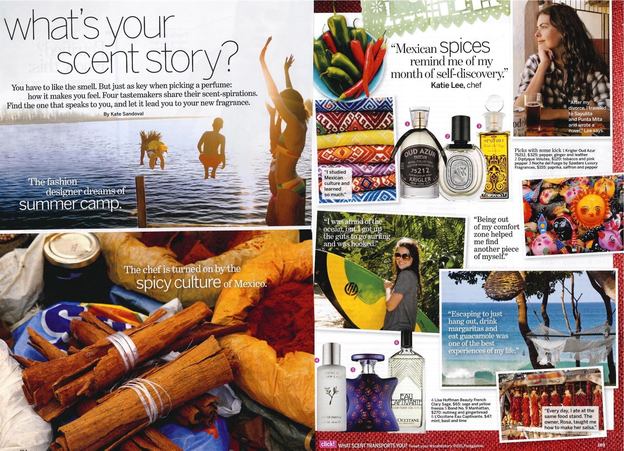 SELF MAGAZINE What's your scent story?